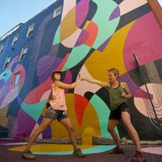 Jessie Unterhalter and Katey Truhn are a Baltimore based artist team striving to transform public spaces into colorful and vibrant experiences.