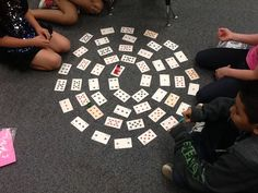 Spiral Multiplication. Love this idea for a practice game! All you need is a deck of cards and dice. The blog post has directions to download. =)