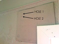 easy way to hang curtain rods