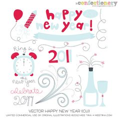 SHCO Confectionery - CU - Vectors - Vector Happy New Year {CU} Join at http://www.sugarhillco.com/cc