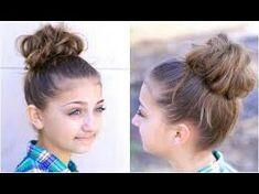 98 Awesome Updo Styles for Girls, Easy Hairstyles for Girls, ★ 3 Minute Elegant Bun Hairstyle Every Girl Doesn T Already Know ★ Easy Updo Hairstyles, 50 Quick and Easy Hairstyles for Girls, New Low Bun Hairstyle for Girls Party Updo Hair Tutorial. Young Girls Hairstyles, Soccer Hairstyles, Donut Bun Hairstyles, Athletic Hairstyles, Easy Updo Hairstyles, Heatless Hairstyles, Back To School Hairstyles, Kids Hairstyle, Hairstyles Videos