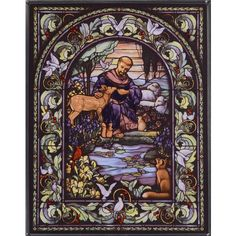 St. Francis stained glass ready to display in your favorite space.