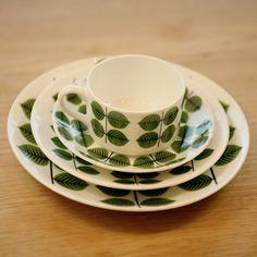 Gustavsberg Bersa Plates by Stig Lindberg by: Gustavsberg -