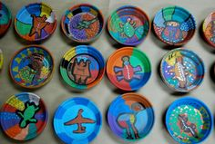 native american art plates