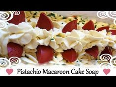Video (Lullaby Soaps) - Pistachio Macaroon Cake Soap!