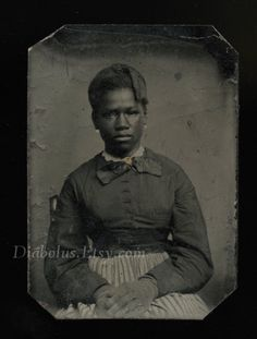 Rare 1860's / Civil War Era Slave Tintype