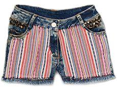 True Luv denim stripe shorts. Today only sale under $20 Check out the peach pink tops and jewelry www.tweeninstyle.com #tweenfashion #tweengirls