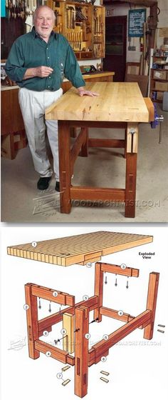 Workbench Plans - Workshop Solutions Projects, Tips and Tricks - Woodwork, Woodworking, Woodworking Plans, Woodworking Projects Woodworking Bench Plans, Wood Plans, Teds Woodworking, Woodworking Projects, Woodworking Guide, Furniture Plans, Diy Furniture, Workbench Plans, Wood Projects