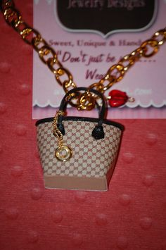Gucci Inspired Purse Necklace! So cute!!