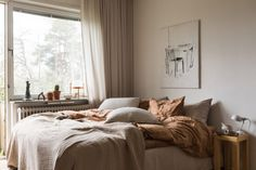 Marina Peterson • midnatt Scandinavian Style Bedroom, H&m Home, Linen Duvet, Minimalist Interior, Bedroom Styles, Sweet Dreams, How To Fall Asleep, Interior Styling, Duvet Covers