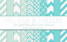 Pale-Aqua-Turquoise-Papers-Package