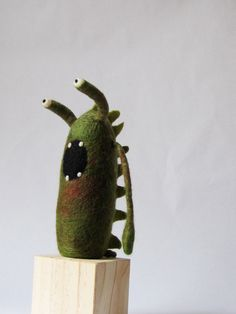 Felt Monster with Spikes by CraftAlternative on Etsy, $45.00