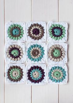 La Gata Con Botas: Cómo hacer sunburst granny squares #sunburstsquare #colourinspiration #colorinspiration