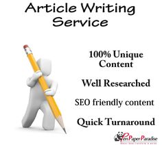 We provide Custom SEO Friendly Article Writing Services. Our professional and Experiences article writers handle your website content as per market Requirement…