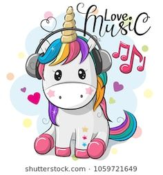 Cute Cartoon Unicorn with headphones on a blue background Cute magical unicorn is dreaming. Vector design…Little pink magical unicorn. Vector design on vecteur de dessin animé mignon de licorne. Black and White Illustration, Printable… Unicorn Drawing, Cartoon Unicorn, Owl Cartoon, Unicorn Art, Cute Unicorn, Cute Cartoon, Baby Unicorn, Cartoon Images, Cute Backgrounds
