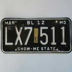 Just listed ... Vintage Show Me state license plate.