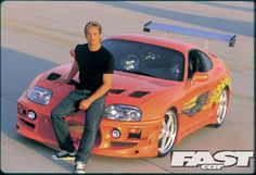 The Fast and the Furious Supra and Paul Walker.