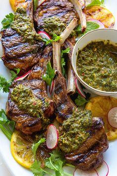 Lamb Chop Recipes, Meat Recipes, Real Food Recipes, Cooking Recipes, Healthy Recipes, Healthy Food, Date Night Recipes, Dinner Recipes, Grilled Lamb Chops