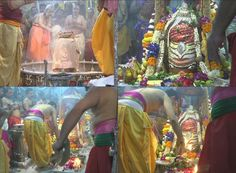 Worshipers gather to pray on the occasion of Maha Shivratri in Ujjain's Mahakaleshwar temple