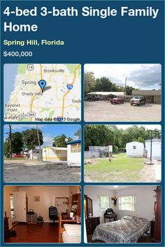 4-bed 3-bath Single Family Home in Spring Hill, Florida ►$400,000 #PropertyForSale #RealEstate #Florida http://florida-magic.com/properties/7956-single-family-home-for-sale-in-spring-hill-florida-with-4-bedroom-3-bathroom