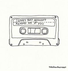 """I should really chuck my ipod because each song contains a resurfaced """"push-to-back-of-mind"""" memory Doodle Drawings, Easy Drawings, Doodle Art, Graphic Design Illustration, Illustration Art, Arte Peculiar, Soundtrack To My Life, Minimalist Drawing, Cute Art"""