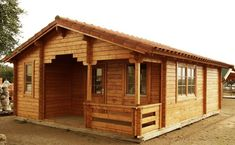 20 ft x 26 ft 424 sq ft Log Guest Pool House Cabin Kit with 56 sq ft porch How To Build A Log Cabin, Small Log Cabin, Tiny House Cabin, Log Cabin Homes, Log Cabins, Small Cabin Plans, Rustic Cabins, Barn Homes, Log Cabin Floor Plans