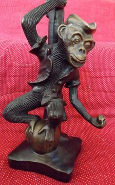 Solid Brass Monkey Candle Holders_Monkey by GoldenBeeAntiques, $95.00