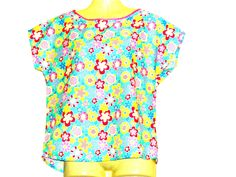 Your place to buy and sell all things handmade Boho Outfits, Vintage Outfits, Multi Coloured T Shirts, Custom Made T Shirts, Holiday Wear, Try On, Free Clothes, Summer Tops, Floral Tops