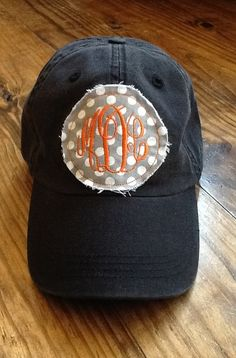 Ladies Monogrammed Hat by KBJsMonogram on Etsy, $20.00