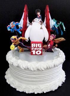Big Hero 6 cake topper 3D baymax hiro hamada six by DesignsByKeiko