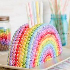 Rainbow Cake smarties Best Picture For easy Birthday Cake For Your Taste You are looking for something, and it is going to tell you exactly what you are looking for, and you didn't find t Birthday Cakes For Teens, Homemade Birthday Cakes, Adult Birthday Cakes, Homemade Cakes, Cake Birthday, Rhubarb Cake, Rainbow Birthday, Cake Rainbow, Rainbow Desserts