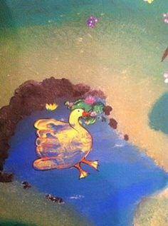 Hand duck painting