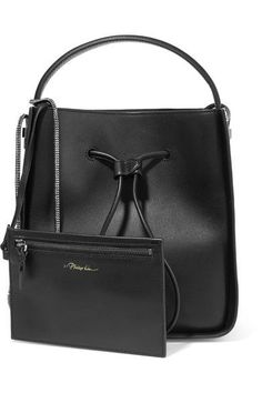 3.1 Phillip Lim - Soleil Small Textured-leather Bucket Bag - Black