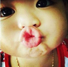 baby kiss--- how cute is this face?