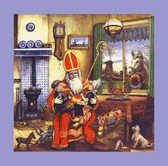 Vintage Sinterklaas, oude prent [Met PhotoFiltre bijgewerkte afbeelding]