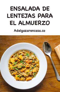 5 recetas de almuerzos para adelgazar - Adelgazar en casa Broccoli, Paleo, Fitness Tips, Lose Weight, Ethnic Recipes, Food, Home, Healthy Lunches, Easy Meals