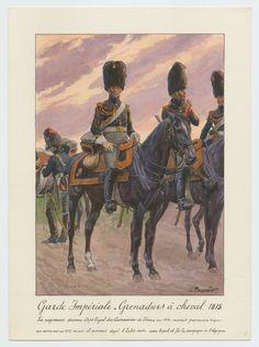 Garde Impériale - Grenadiers à cheval 1815: Le regiment devenue Corps Royal des Cuirassiers