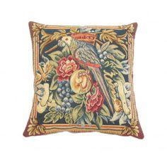 Corona Decor French Woven Flower Decorative Pillow
