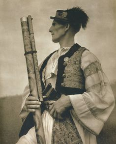 """slavic-roots: """" Vintage photo of a Carpathian shepherd from Slovakia with his fujara; a traditional woodwind instrument of the region """" Vintage Photographs, Vintage Photos, Roman Artifacts, Music Studio Room, Music Festival Outfits, Music Painting, Old Music, Fine Art Photo, Love And Light"""