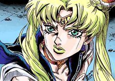 [Art] (Sailor Moon) in JoJo art style by : manga Sailor Moon Meme, Sailor Venus, Manga Anime, Anime Art, Jojo Jojo, Jojo Anime, Manga List, Jojo Memes, Anime Crossover