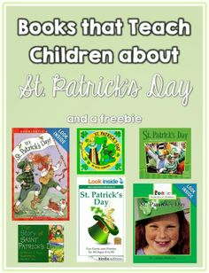 Books that Teach Children about St. Patrick's Day and a freebie