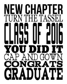2016 Graduation Subway Art | Free printable art perfect for graduation parties!