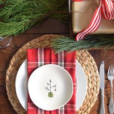Ya'll, I found the most darling little Christmas plates @marshalls today.  I bought 4 and each with a different, sweet, simple design.  I love that we'll each have our own special plate.  Here's a peek at my Christmas table with one of my new plates. #fabfound #merrychristmas