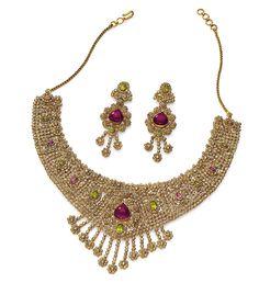 Manish Bhindi; Bhindi Manufactures ( Índia); Ouro 22K, Passion Topaz Khaki, Pink e Diamantes não lapidados.