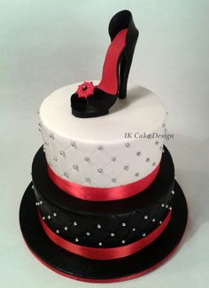 Birthday cake in the shape of a shoe