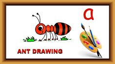 Art for kids|| How to draw with alphabet|| Learn to Draw Ant with Alphab...