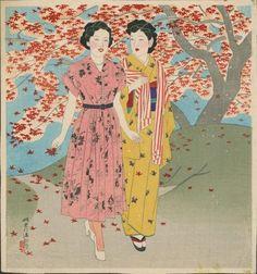 Shinsui Ito (1898-1972), Moga Girls, c. 1950s
