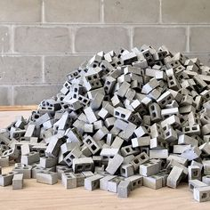 Getting to work to stock up for the holidays! . #minimaterials #miniature #cinderblocks #diy #makersgonnamake #scalemodels #mini