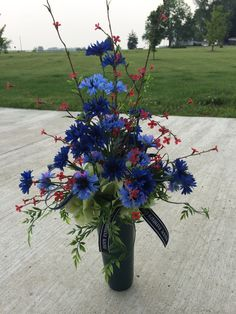 Father's Day Cemetery Flower Arrangement by McCraeKidstonDesigns