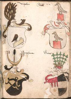 Wernigeroder (Schaffhausensches) Wappenbuch Süddeutschland, 4. Viertel 15. Jh. Cod.icon. 308 n  Folio 211r